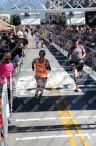 Crossing the finish line at UVM; tough race, great day!