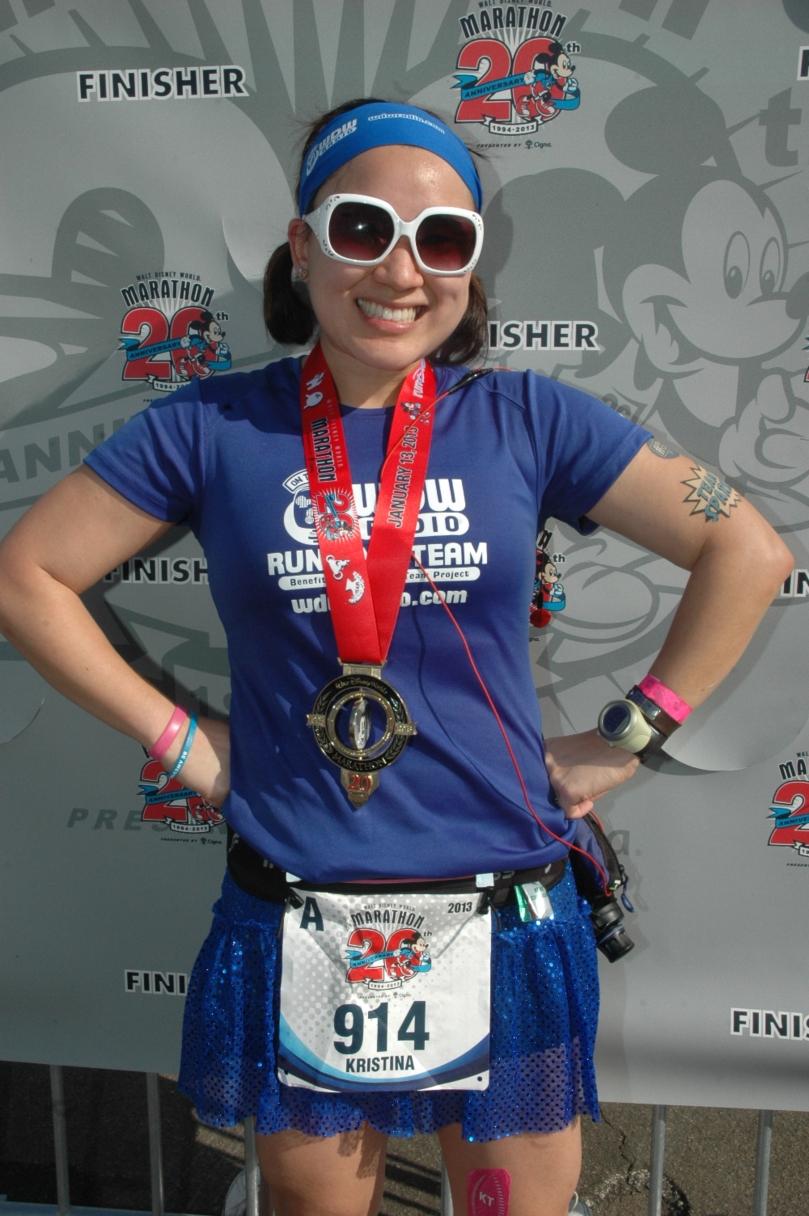 Over the moon! 2013 WDW Marathon Finisher!