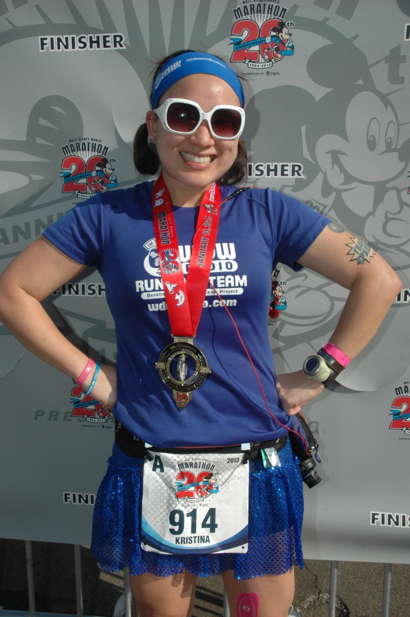 Over the moon! 2013 WDW Marathon Finisher!