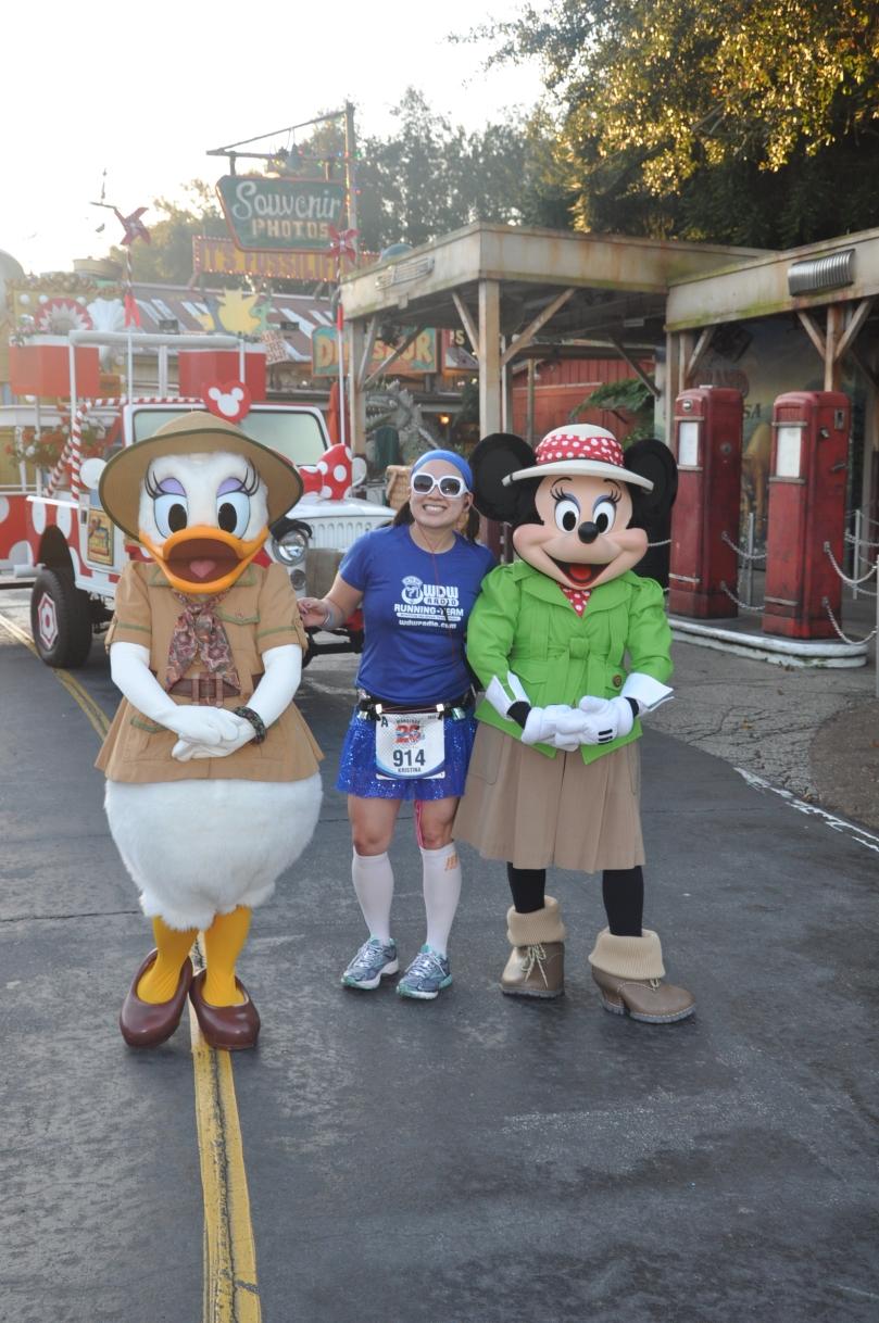 With Minnie and Daisy in Dinoland, USA!
