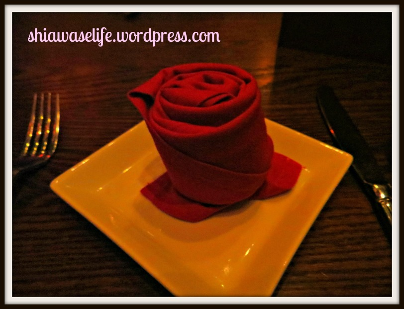 """Rose"" napkins! :)"