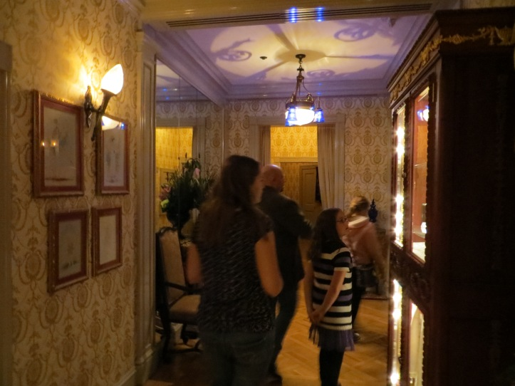 Entering the dining area.