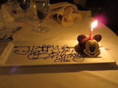 Birthday dessert.
