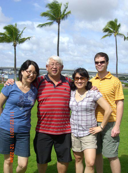 Mom, Dad me and hubs in Hawaii, 2011.