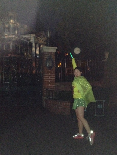 Sis in front of her fave attraction!