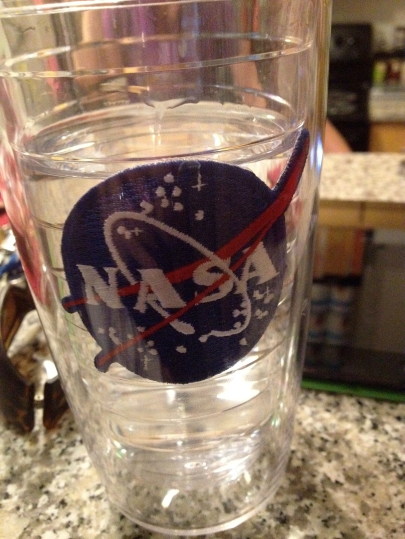 YUM! Space water!