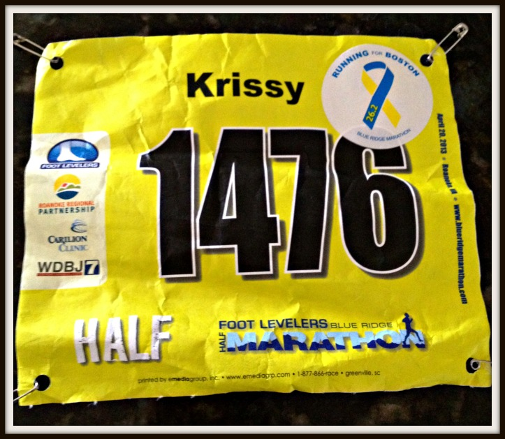 LOVE that they added the names this year and had special Boston stickers you could personalize your bib with!