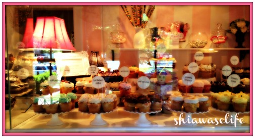 Beautiful display at bubble cake!