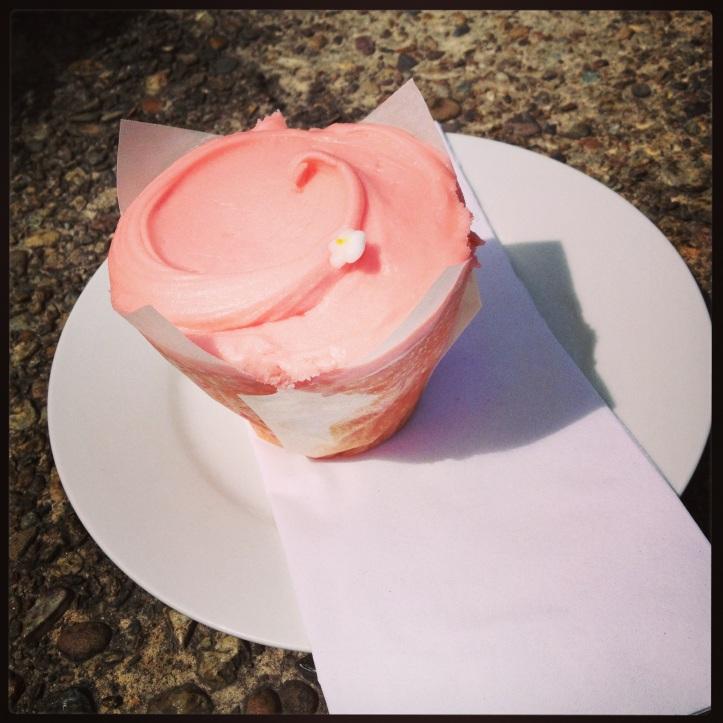 Cherry Blossom Cupcake.