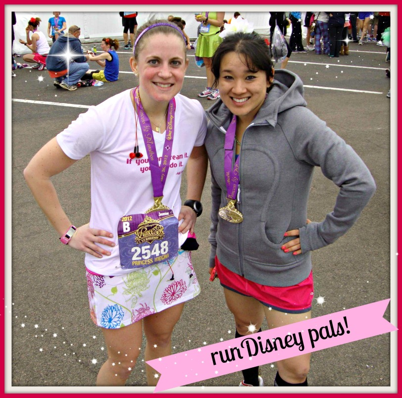 After the 2012 Princess Half Marathon.