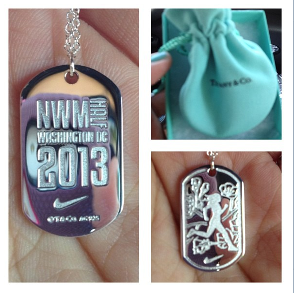 Close-up of the finisher necklace.