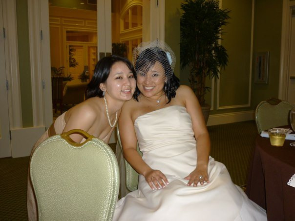 At my wedding, 2009.