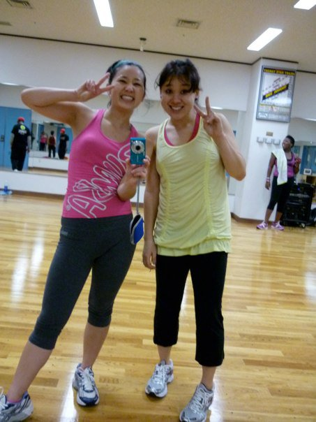 At my first (and last) Zumba class, 2010.
