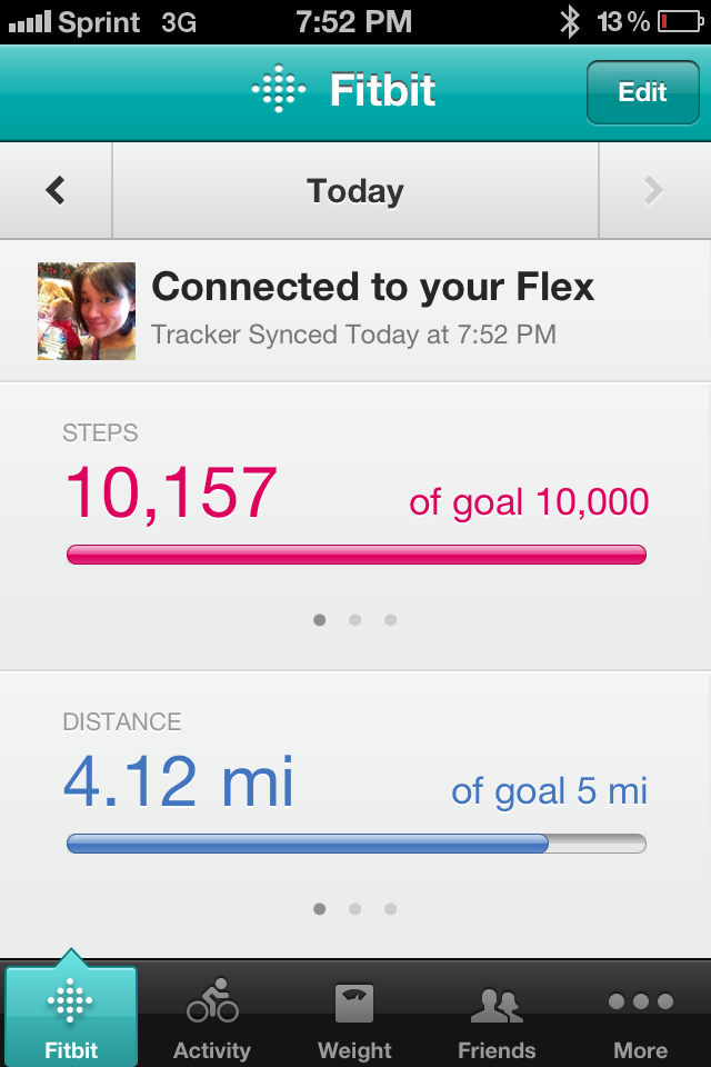 Dashboard on iPhone app.