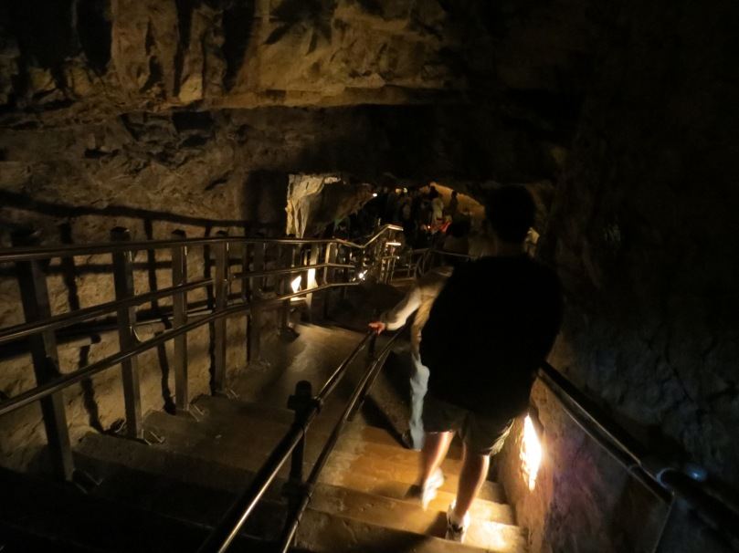 Descending into the Caverns.