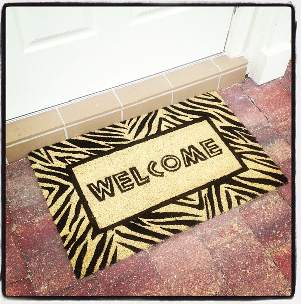 Love this mat our landlords left us!
