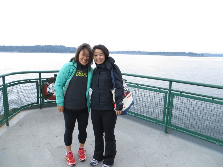 On the ferry over to Bainbridge Island!