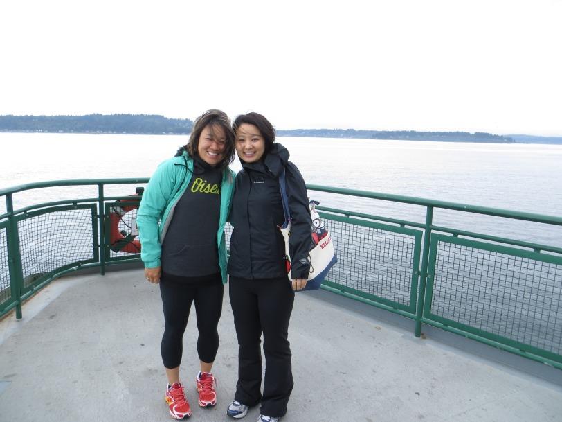 On the ferry over to Bainbridge Island!