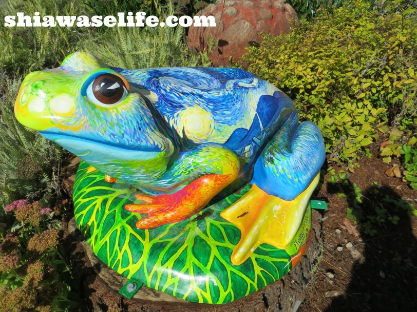 """""""Froggy Froggy Night"""" by Leigh Knowles Metteer."""