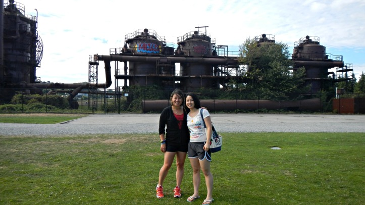 At Gasworks Park.