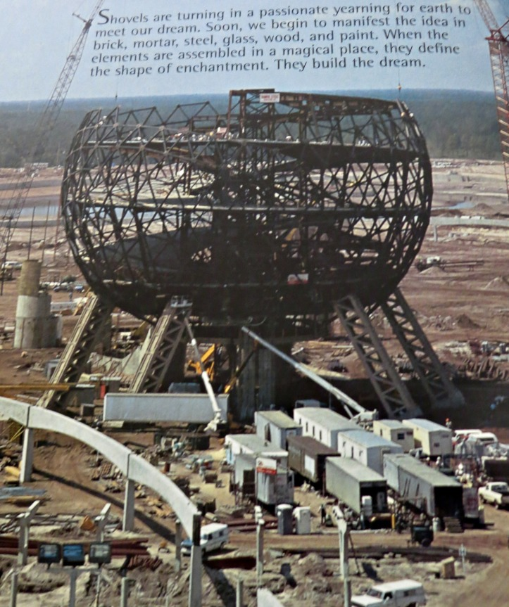 The construction of Spaceship Earth.