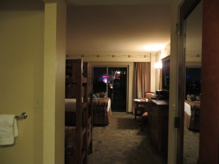 View from the room at the Grand Californian.