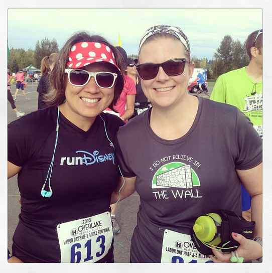 Me and Margaret, Labor Day Half, 2013.