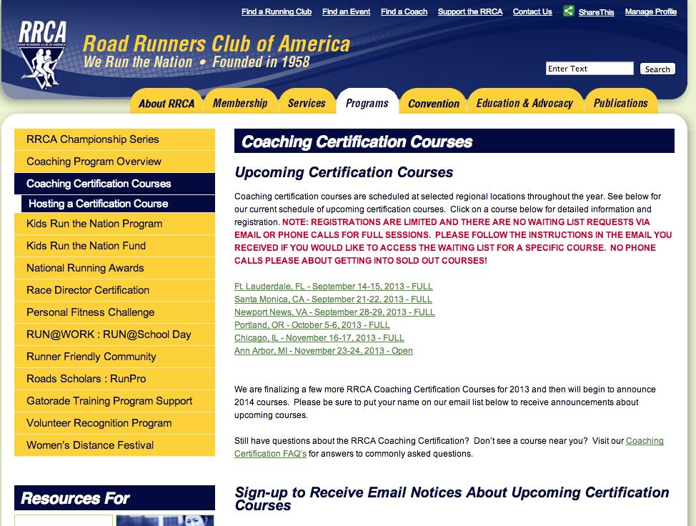 RRCA Coaching Certification – Part 1 | Shiawase Life