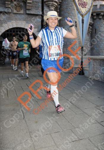 Running through Sleeping Beauty Castle! Disneyland 10K, 2013.